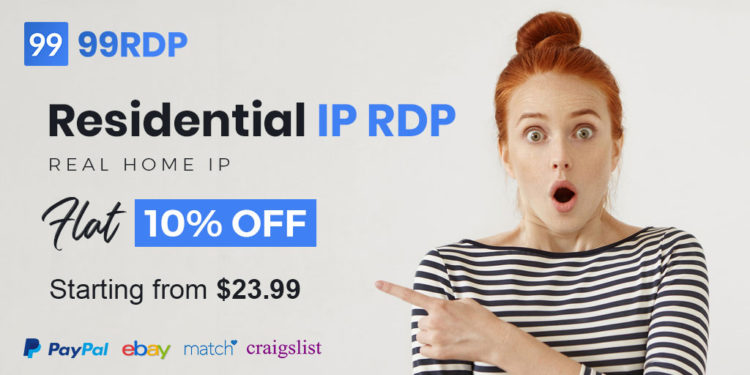 100% New Clean, Residential IP RDP with Full Admin Access, Same IP Renewal Support, Suitable for PayPal, Dating Websites, Craigslist, Survey, Ads,